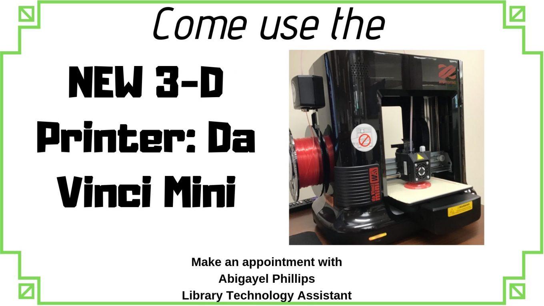 NEW Da Vinci 3D Printer